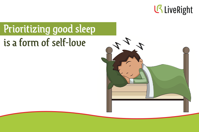 Prioritize good sleep for self love.